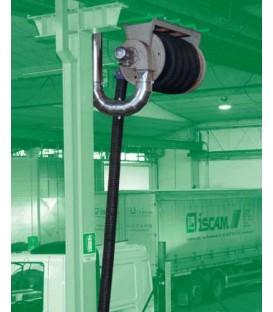Enrrollador mecánico para gases de escape