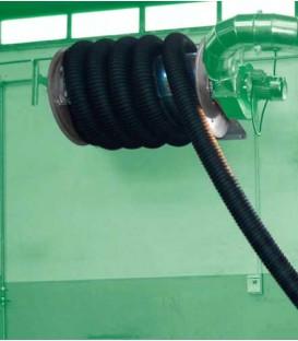Enrollador motorizado para gases de escape