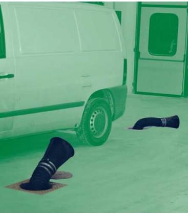 Colectores de gases de escape de pavimento